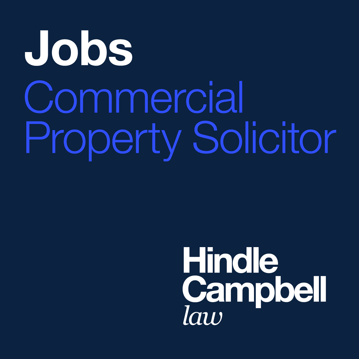 Commercial Property Solicitor Jobs Newcastle - Hindle Campbell Law