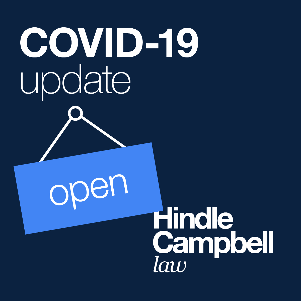 Solicitor North Shields Hindle Campbell - COVI19 Open Message